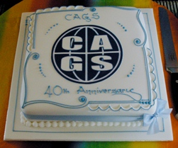 CAGS 40th Anniversary cake