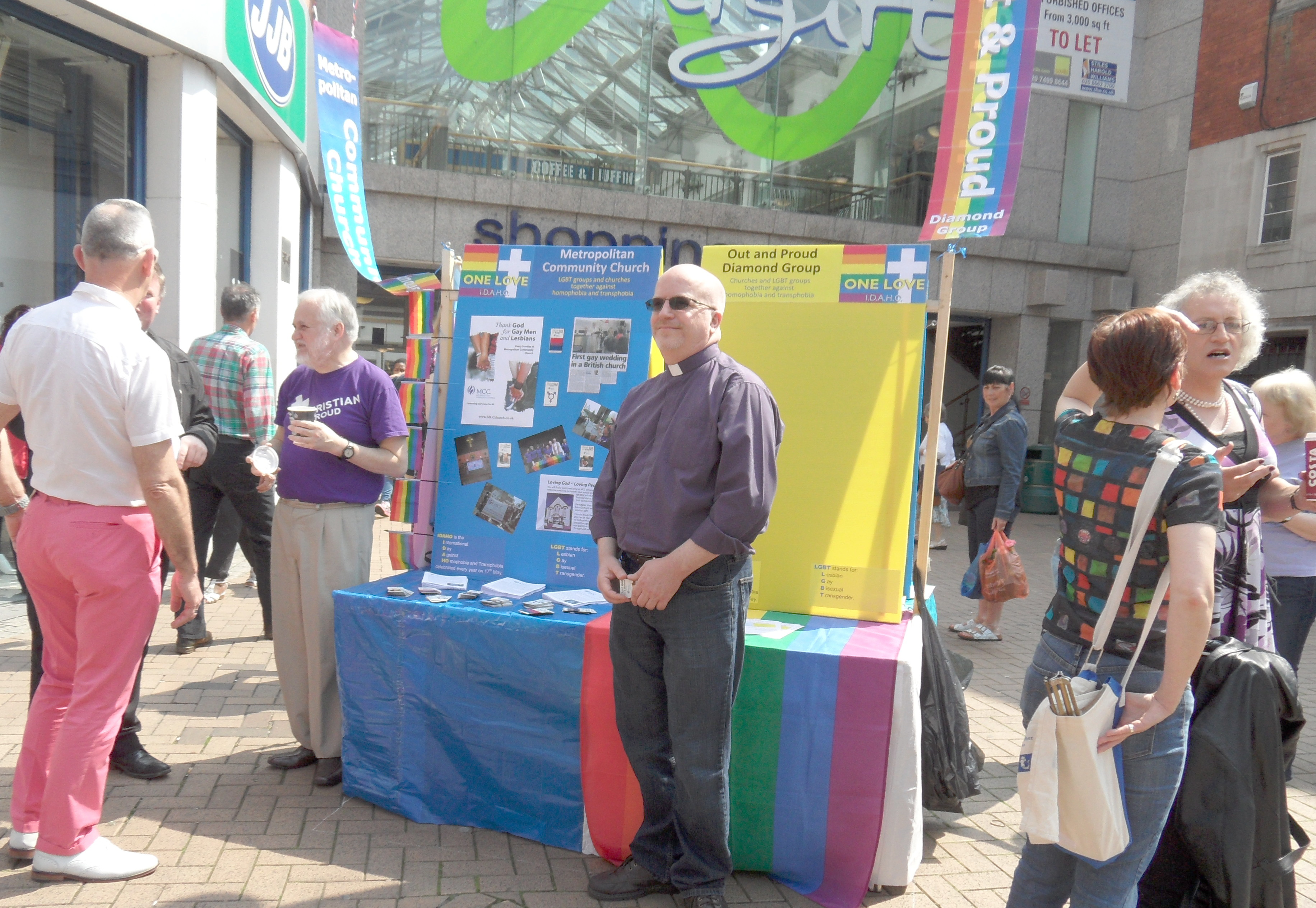 Rev Dwayne Morgan and the MCC stall