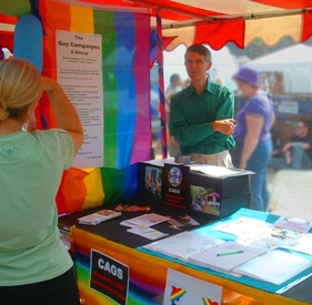 The CAGS stall at Brighton Pride