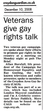 Report of the Allan Horfall and Ray Gosling meeting