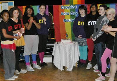 Croydon Youth Theatre members