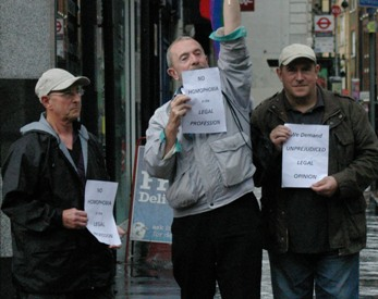 CAGS members protesting in the street