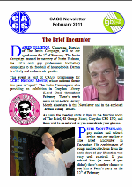 Front page of a recent Newsletter