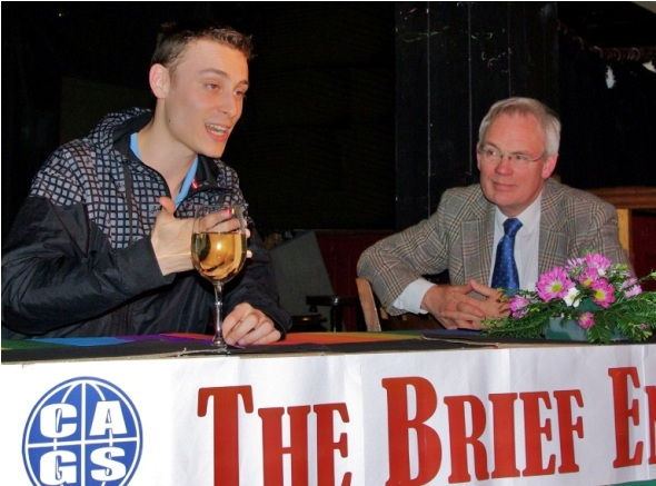 Thierry Schaffauser and Ross Burgess at The Brief