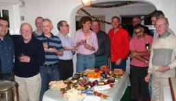 Some members and guests at the Christmas party